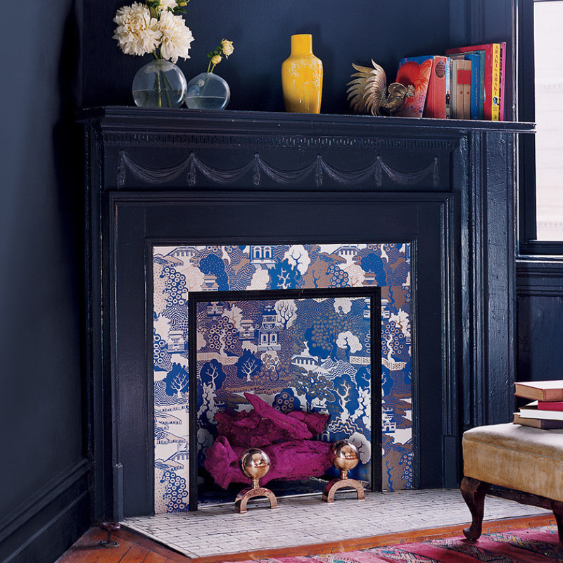 Wall Painting Ideas: Fireplace